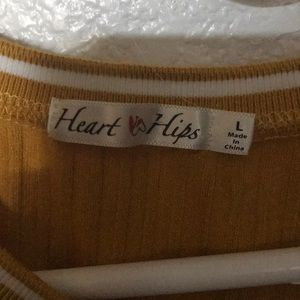 Heart & Hips Dresses - Tight yellow dress large